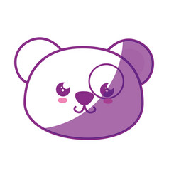 Kawaii panda bear icon vector