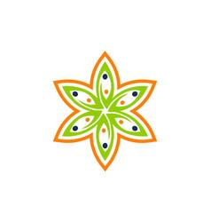Leaf flower wellness vector