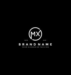 Letter mx logo design vector