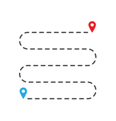 location icon simple route like we have moved vector image