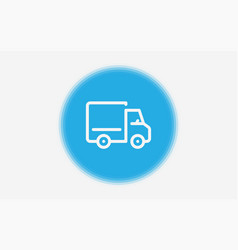 lorry icon sign symbol vector image
