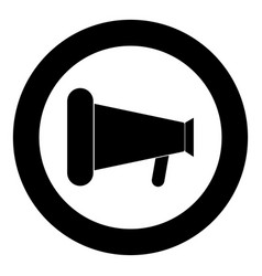 loud speaker or megaphone icon black color in vector image