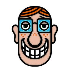 Man head cartoon vector