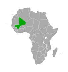 map mali in africa vector image