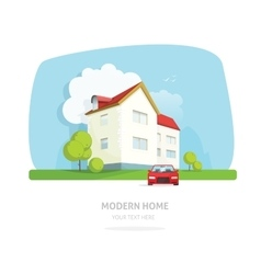 Modern home facade contemporary house traditional vector