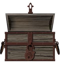 Old empty open chest vector