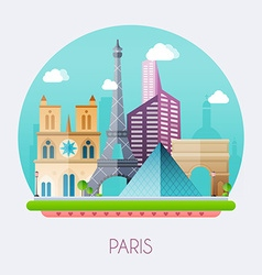 paris skyline and landscape buildings and vector image