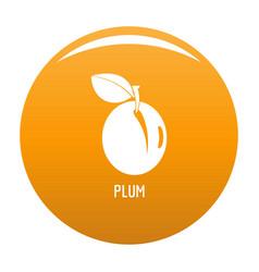 plum icon orange vector image