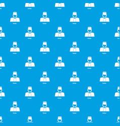 Porter pattern seamless blue vector