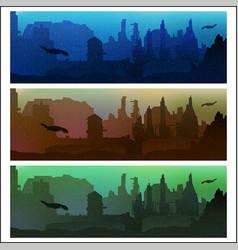 Post-apocalyptic future vector