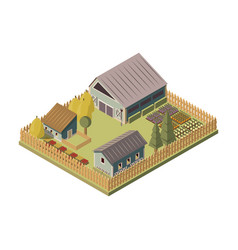ranch isometric layout vector image
