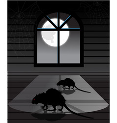 Rats in the attic vector image