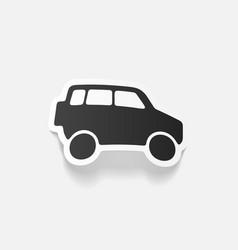 Realistic design element car suv vector