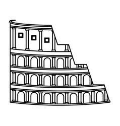 Rome coliseum isolated icon vector