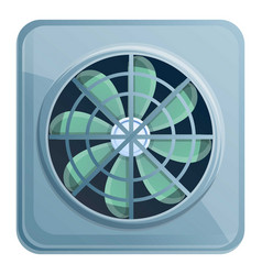 Rotor fan ventilation icon cartoon style vector