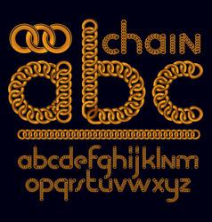 script modern business alphabet letters abc set vector image