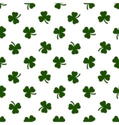 Seamless clover leaves background St Patricks vector image