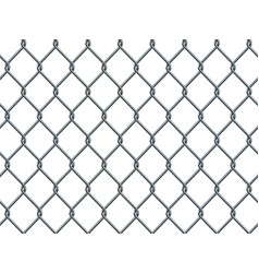 Seamless metal industrial wire pattern on white vector