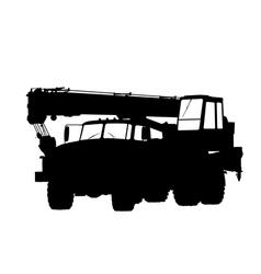 Silhouette of a truck crane vector