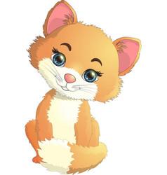 small kitten is interesting vector image