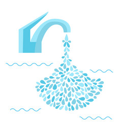 small water drop from faucet vector image