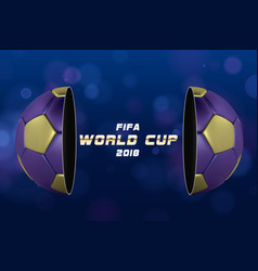 soccer or football ball on blue background vector image