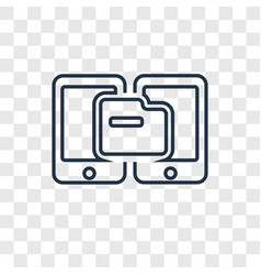 transfer concept linear icon isolated on vector image