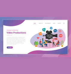 Video production or development for website vector