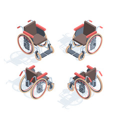 Wheelchair isometric view medical special vector