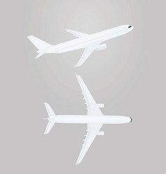 White airplanes vector