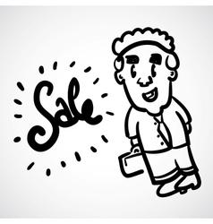 Cartoon Doodle Businessman vector image