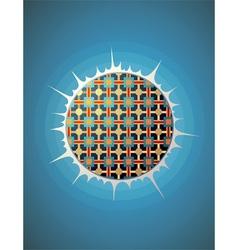 Glowing pattern sphere vector image
