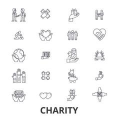 charity donation volunteer fundraising vector image