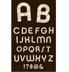 Craft Font vector image vector image