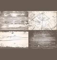 set of wooden planks overlay texture shabby chic vector image