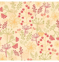Summer berries seamless pattern background vector