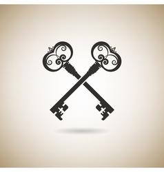 vintage keys vector image
