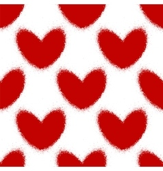 Blood splatters and hearts seamless pattern vector image