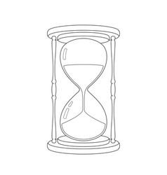 hourglass sketch vector image vector image