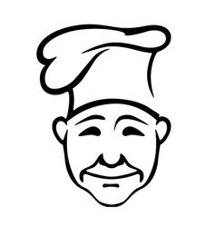 Joyful chef in a high hat vector image vector image