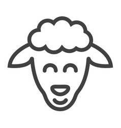sheep line icon easter and holiday lamb sign vector image