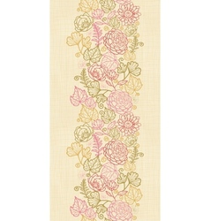 Textile flowers vertical seamless pattern vector image vector image