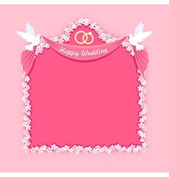 Wedding frame vector image vector image