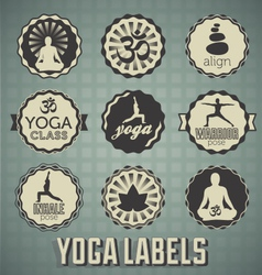 Yoga Labels vector image vector image