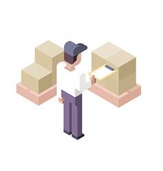 Cargo Checking Distribution Center vector image