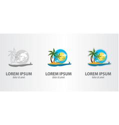 logo island vector image vector image