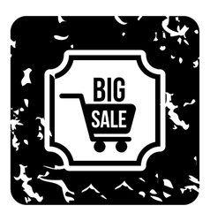 Total sale icon grunge style vector