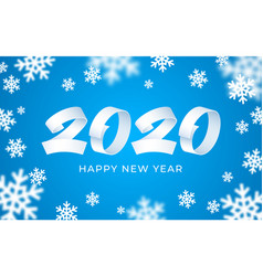 2020 happy new year numeral text background vector image