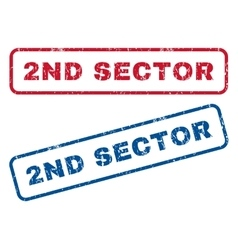 2nd Sector Rubber Stamps vector image