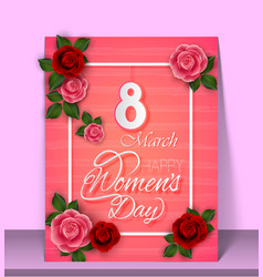8 march womens day on purple background vector image